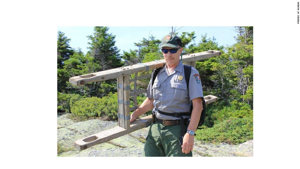 Park ranger Charlie Jacobi, natural resource and visitor use specialist, has worked at Acadia for almost 30 years.