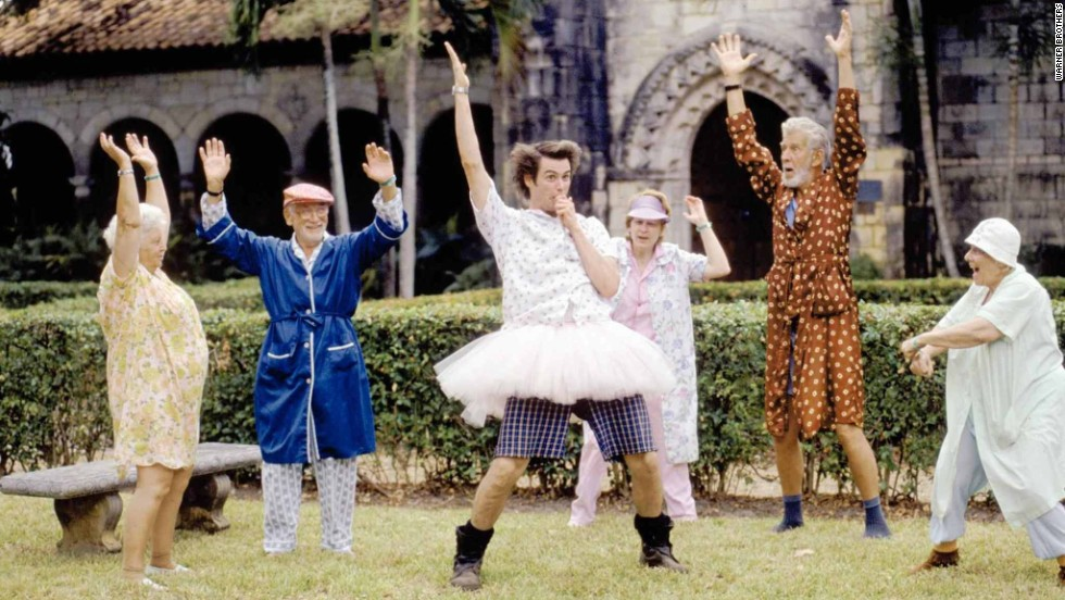 "Carrey plays a goofy animal detective in ""Ace Ventura: Pet Detective"" in 1994."