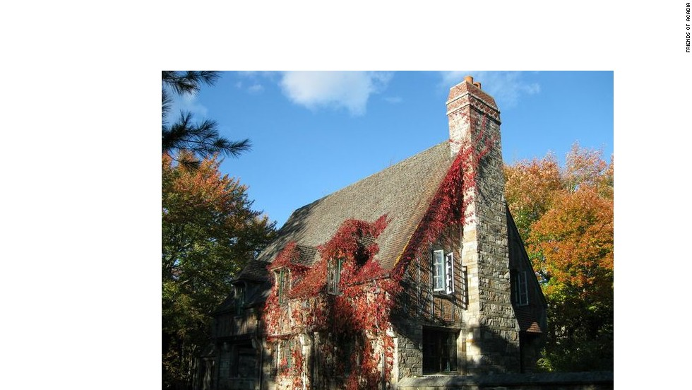 Jordan Pond Gate Lodge and the carriage road on Mount Desert Island were paid for by John D. Rockefeller Jr.