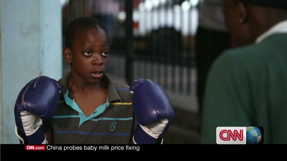 After school, local boys flock to the gym to learn the basics of boxing -- how to move, jab and defend. No fee is required as the goal is to keep youngsters off the streets.