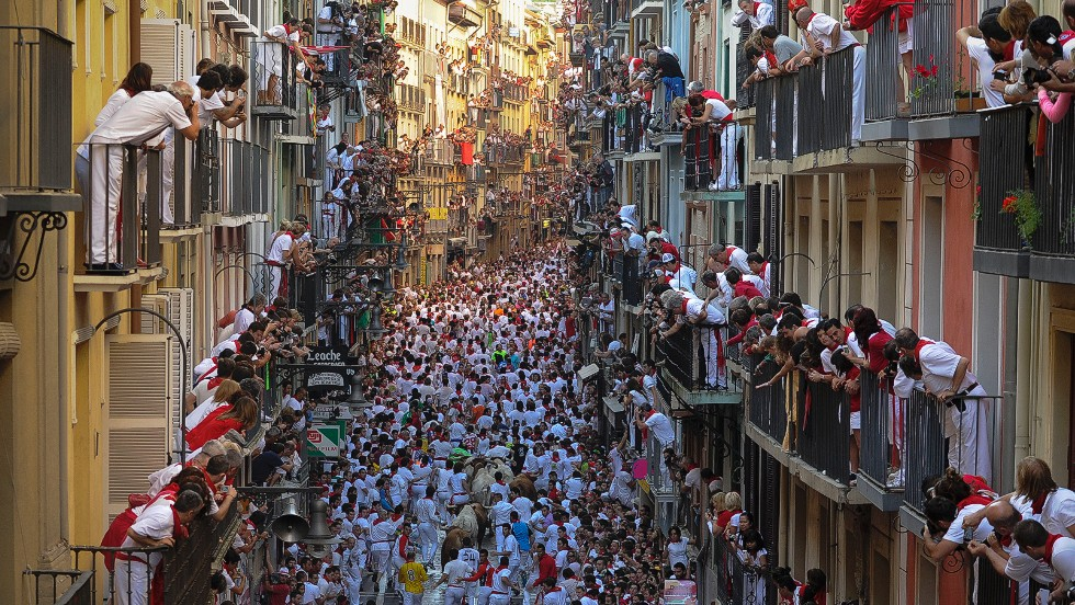 The Running of the Bulls -- part of the annual San Fermín Festival -- has become a popular symbol of Spanish culture, attracting thousands of tourists a year.