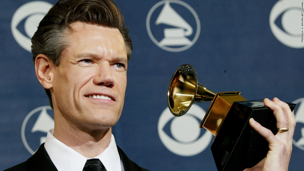 Travis poses backstage at the 46th Annual Grammy Awards in 2004 in Los Angeles, after winning the Grammy for Best Southern, Country, or Bluegrass Gospel Album.