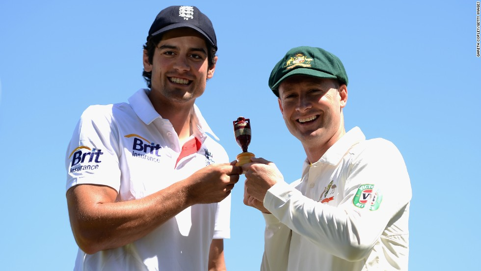 Alastair Cook and Michael Clarke are the respective captains of England and Australia. The two countries have competed against each other since the first series Ashes in 1882 with the Urn the big prize.
