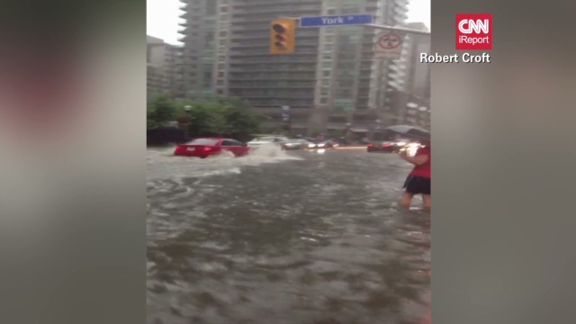 iReporter drives through flooded Toronto