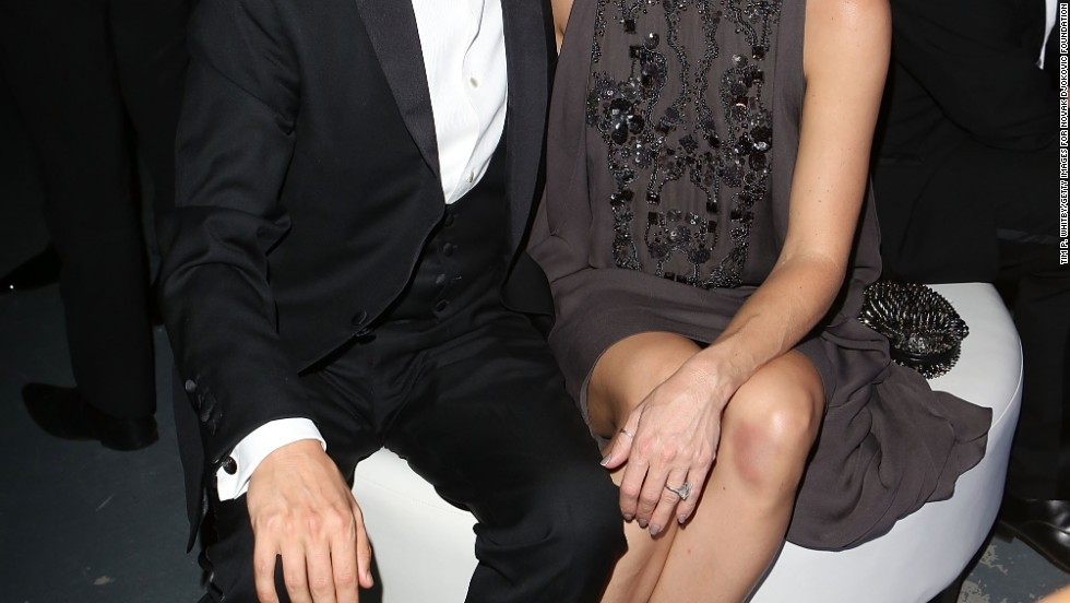 Engaged couple Matt Bellamy and Kate Hudson looked sharp at the Novak Djokovic Foundation's inaugural gala dinner in London on July 8.