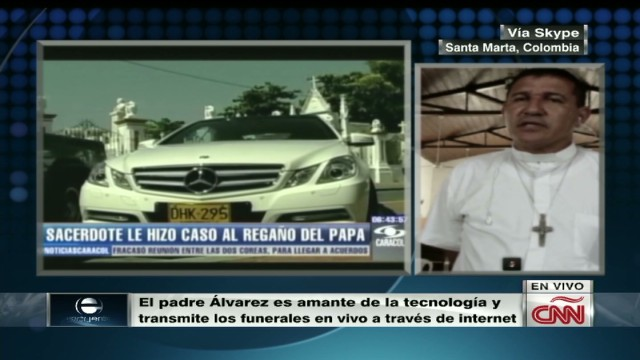 cnnee father alvarez and his luxury car interview_00035919.jpg