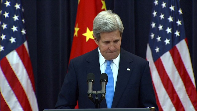 Kerry chokes back tears about wife