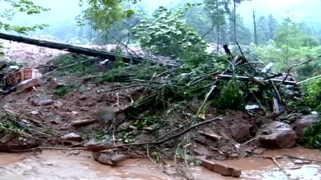 Landslide causes havoc in Chinese city