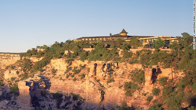 El Tovar Lodge is at the South Rim of the Grand Canyon in Arizona.