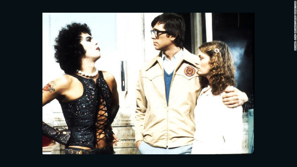 """The Rocky Horror Picture Show"" with Tim Curry, left, Barry Bostwick and Susan Sarandon did not draw large audiences when first released in 1975. Frequent midnight showings later helped make it a cult film, as commenter NeonBlaqk pointed out."