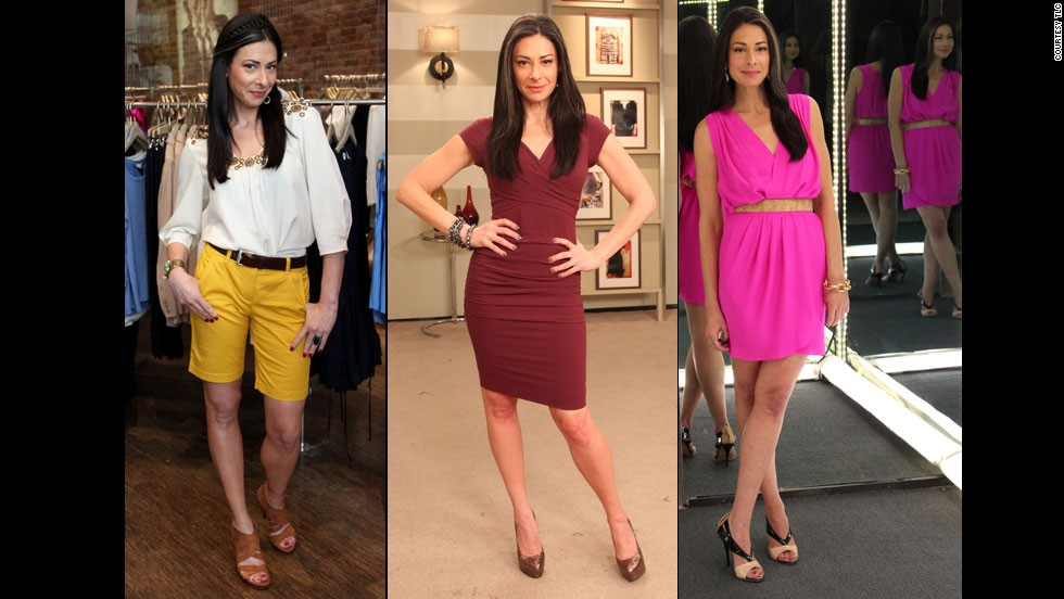 When fashion expert Stacy London shows off her legs, as she does here, she uses skin foundation to hide the bluish tinge caused by poor circulation.