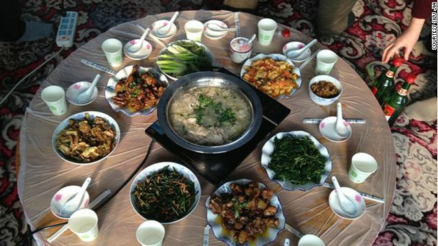 A typical Jilin meal includes lots of game, such as pheasant, and preserved vegetables. Pickled cabbage with pork is one of the area's most popular dishes.