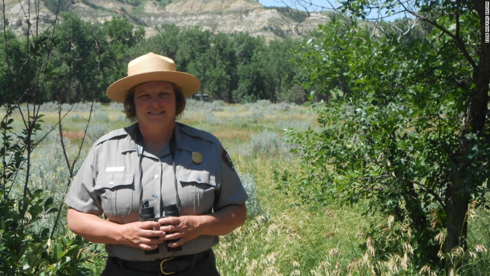 "Valerie Naylor, who says she never leaves home without her binoculars, was inspired to become a park ranger by volunteering at Theodore Roosevelt. She has been superintendent of her ""home park"" since 2003."
