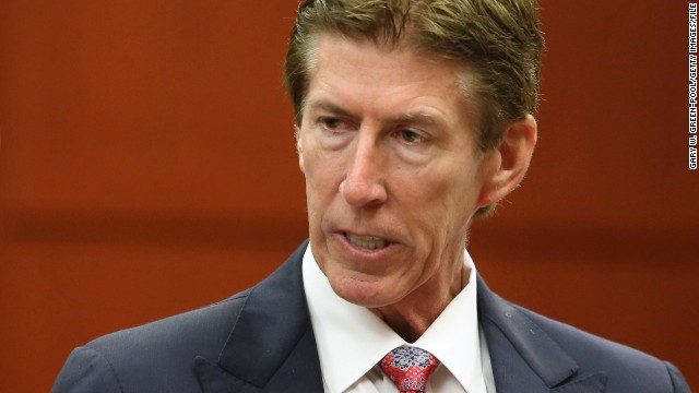 SANFORD, FL - JULY 10:  Defense attorney Mark O'Mara speaks with assistant state attorney Bernie de la Rionda during George Zimmerman's murder trial in Semimole circuit court July 10, 2013 in Sanford, Florida. Zimmerman has been charged with second-degree murder for the 2012 shooting death of Trayvon Martin. (Photo by Gary W. Green-Pool/Getty Images)