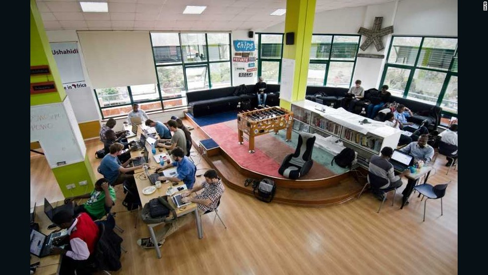 "As part of its ""Vision 2030"" development program, Kenya has singled out scientific and technological advancement as a key driver for growth. <br />Pictured, Nairobi's iHub is a co-working space that's become the epicenter of Kenya's burgeoning tech scene."