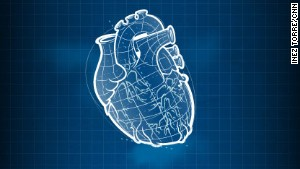 An artist's impression of a 3D-printed heart