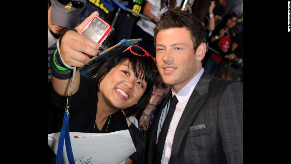 "Monteith poses for a picture at the premiere of ""Glee The 3D Concert Movie"" on August 6, 2011."