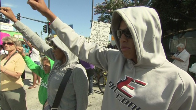 Trayvon Martin supporters take to the streets