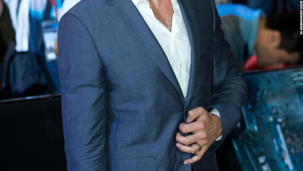 "Hugh Jackman attends the Seoul premiere of his new movie, ""Wolverine,"" on July 15."