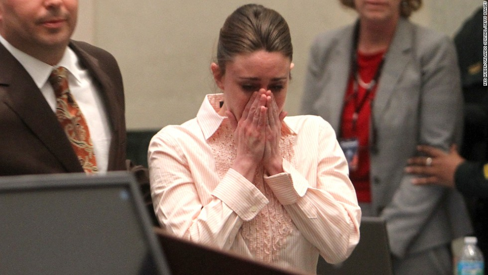 "<a href=""http://www.cnn.com/2011/CRIME/07/05/florida.casey.anthony.trial/index.html"">Casey Anthony</a> covers her face in an Orange County, Florida, courtroom in 2011 after hearing she was not guilty of first-degree murder, aggravated child abuse and aggravated manslaughter in the death of her 2-year-old daughter."