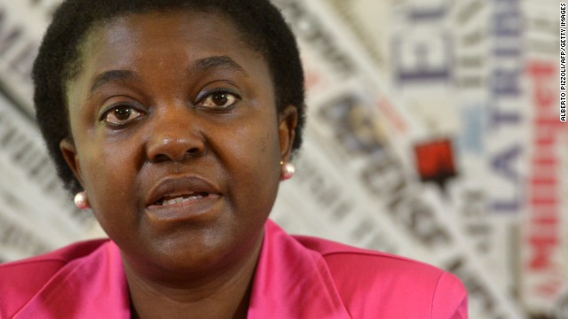 Integration Minister Cecile Kyenge at the foreign press association in Rome on June 19.