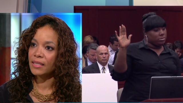 Defending her friend Trayvon Martin