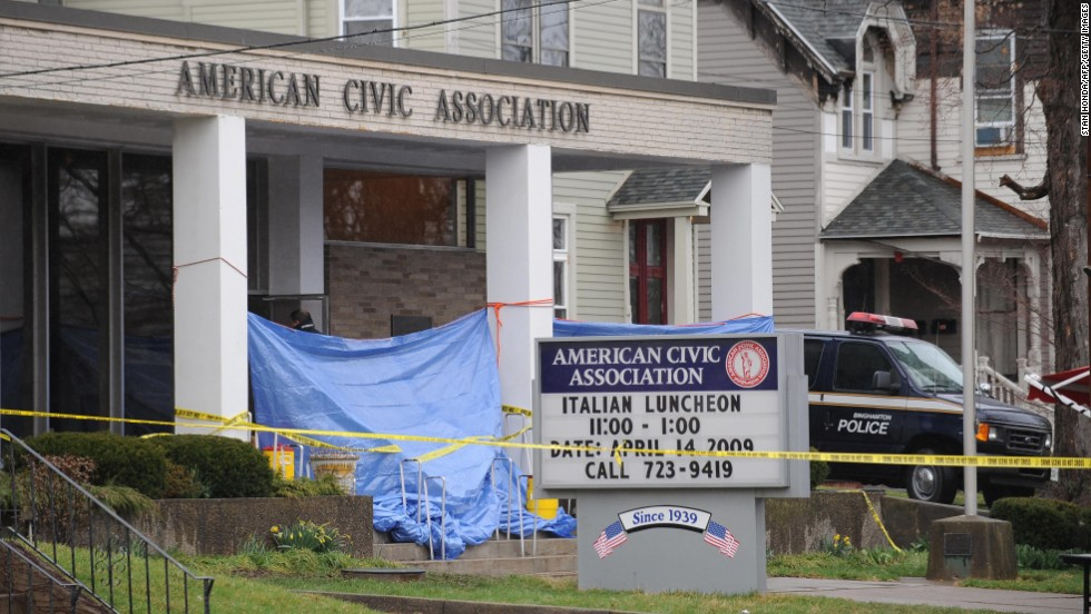"Jiverly Wong shot and killed 13 people at the American Civic Association in Binghamton, New York, before turning the gun on himself in April 2009, police said. Four other people were injured at the <a href=""http://www.cnn.com/2009/CRIME/04/08/ny.shooting/index.html?iref=allsearch"" target=""_blank"">immigration center shooting.</a> Wong had been taking English classes at the center."