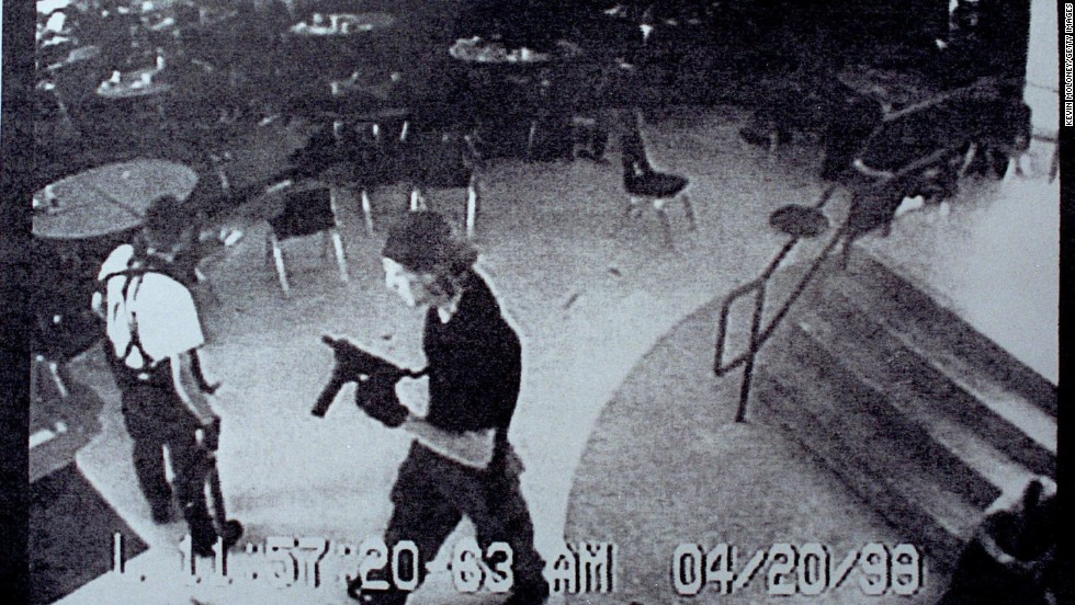 "Eric Harris, left, and Dylan Klebold brought guns and bombs to <a href=""http://www.cnn.com/US/9904/20/school.shooting.03/index.html?iref=allsearch"" target=""_blank"">Columbine High School</a> in Littleton, Colorado, in April 1999. The students gunned down 13 and wounded 23 before killing themselves."