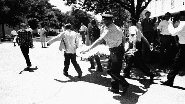 At the University of Texas in Austin on August 1, 1966, Charles Joseph Whitman, killed 16 and wounded at least 30 from a university tower. Police officers shot and killed Whitman in the tower. Whitman also killed his mother and wife earlier in the day.
