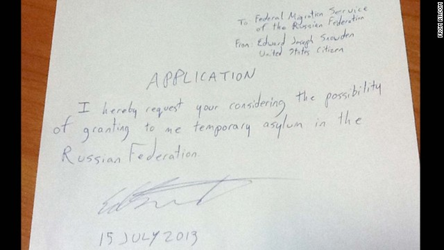 Snowden's application