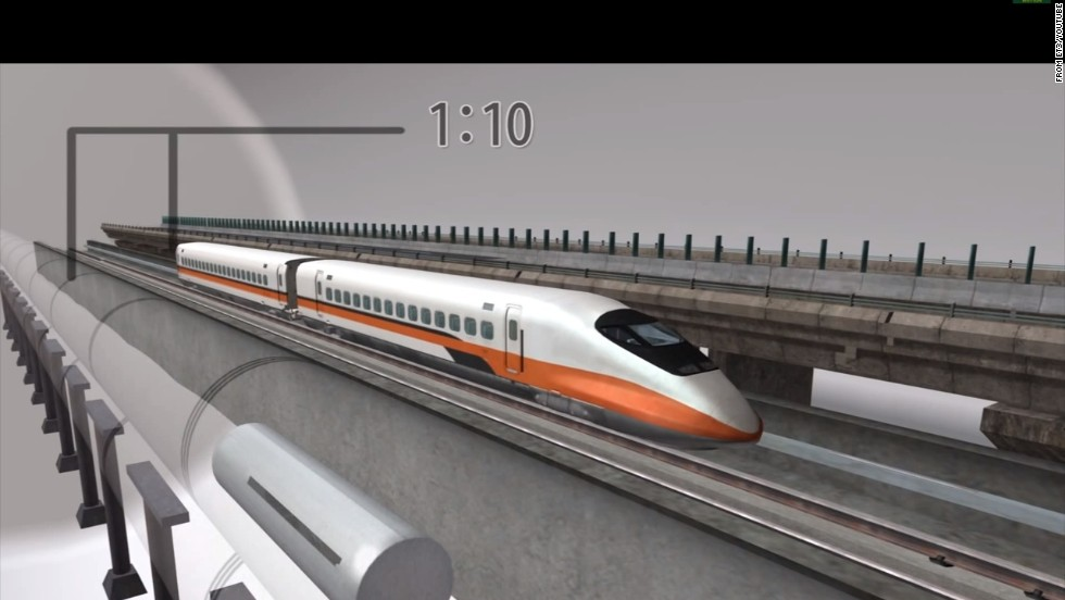 ET3 claims such a vacuum-tube system could be built for one-tenth the cost of high-speed rail, or one-fourth the cost of a freeway.