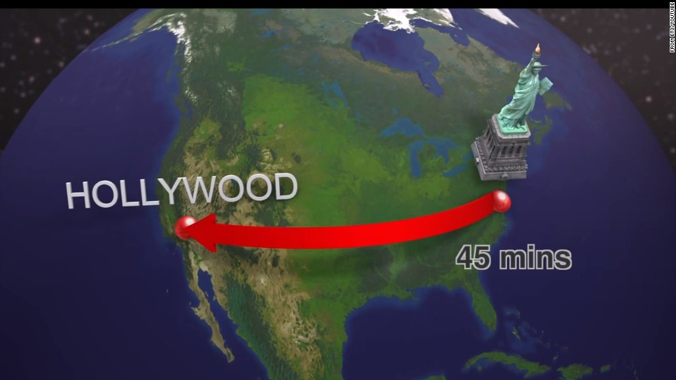 "As crazy as it sounds, if moving at their projected speeds the capsules could travel from New York to Southern California -- a journey of some 3,000 miles -- in about 45 minutes. <a href=""https://twitter.com/elonmusk/status/356776740409974785"" target=""_blank"">Musk says he will publish an alpha, or early design</a>, of the prototype system next month."