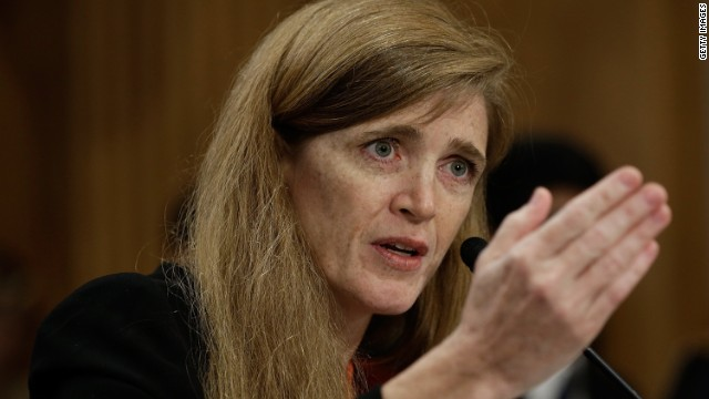 Samantha Power, America's ambassador to the United Nations.