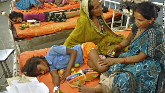 22 Children die after poisoned lunches
