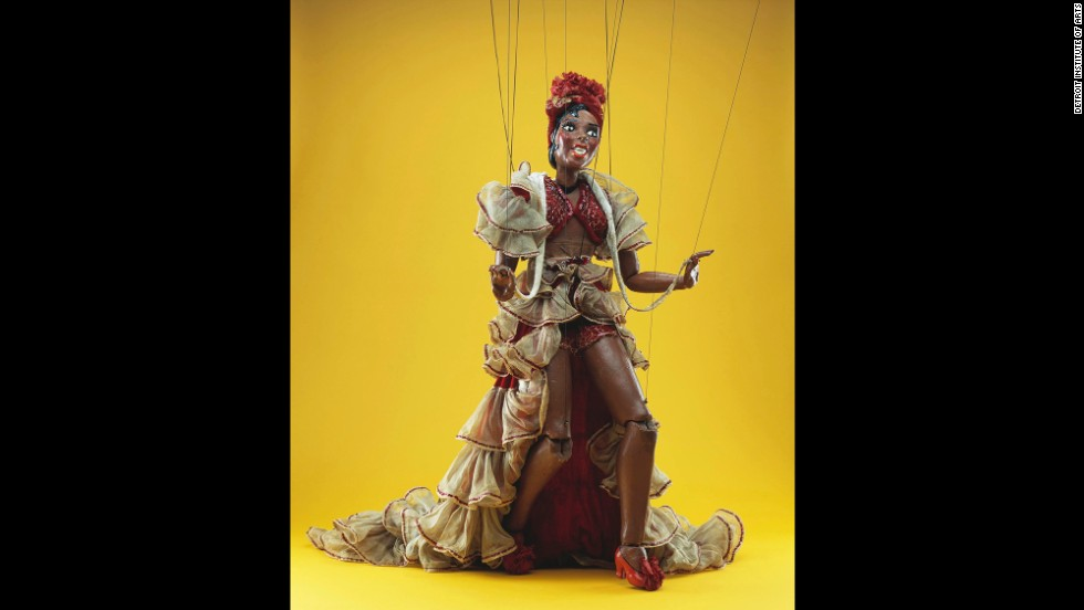 This puppet of Josephine Baker, complete with snake, was made by Frank Paris in 1937 and was donated by the artist to the museum.