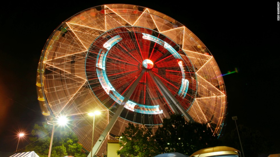 Everything is bigger in Texas! At 212 feet high, the Texas Star holds 44 gondolas each capable of holding six people. Visitors can only catch a ride during the three-week Texas State Fair.
