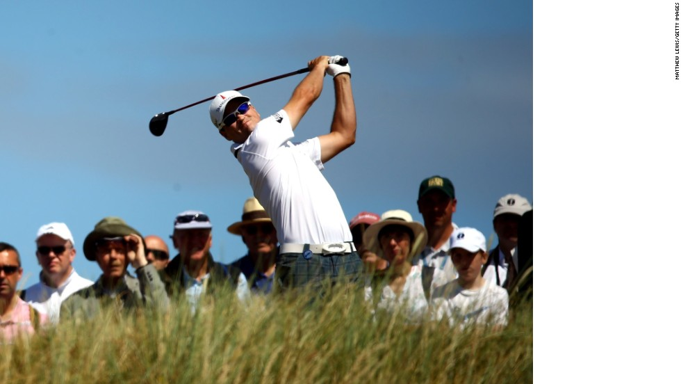 American Zach Johnson - winner of the Masters in 2007 - held the lead after day one at the 2013 British Open thanks to a five-under-par round of 66.