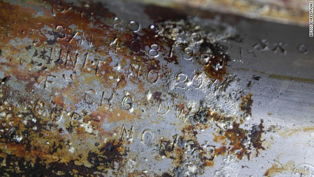 Jeff Bezos said a conservator identified a serial number proving the a rocket engine came from the Apollo 11 program.