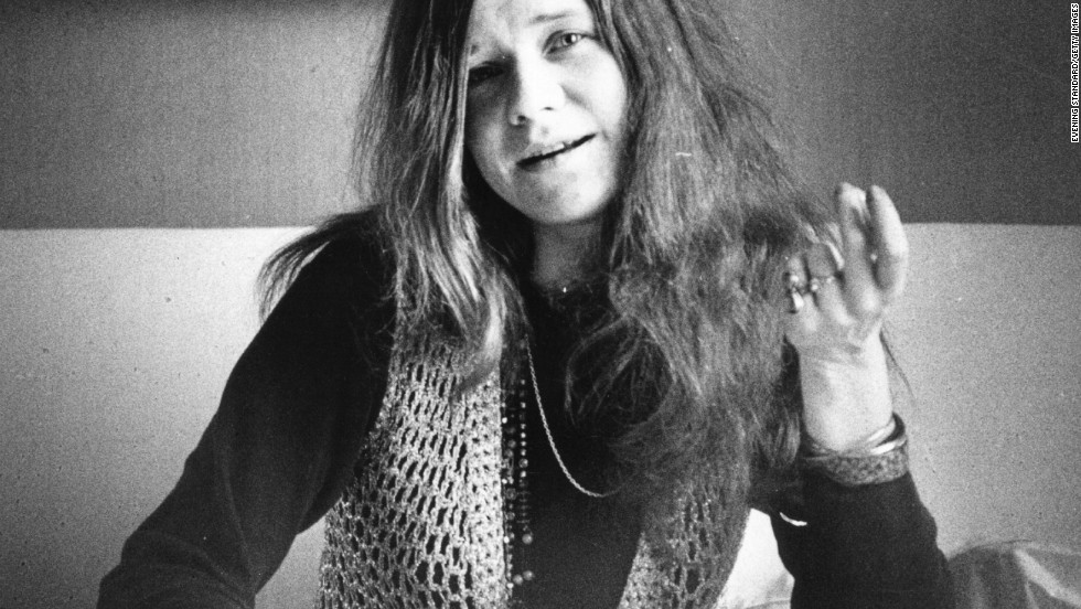American blues-rock singer Janis Joplin died on October 4, 1970. She was found in her hotel room, dead of a heroin overdose.