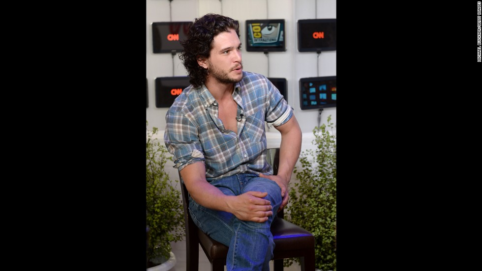 "Actor Kit Harington spends the first day at The Samsung Galaxy Experience on July 18. Harington plays Jon Snow, the illegitimate son of Ned Stark on HBO's ""Game of Thrones."""