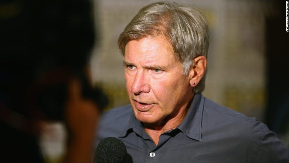 "Actor Harrison Ford attends the ""Ender's Game"" Comic-Con Press Line at San Diego Convention Center on July 18. Ford stars as Col. Hyrum Graff, a colonel in the International Fleet and the commandant of the Battle School in the movie due to debut November 1."