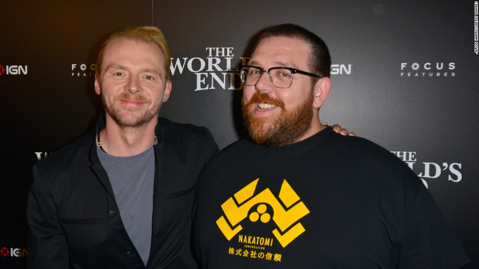 "Writer/actor Simon Pegg, left and actor Nick Frost attend IGN And Focus Features Party Presented By The World's End at Float at Hard Rock Hotel San Diego on July 18. The Simon Pegg and Nick Frost trilogy (""Shaun of the Dead,"" ""Hot Fuzz"") comes to an end with the movie ""The World's End"" in theaters on August 23."