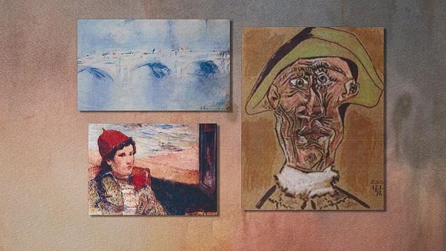 Screen grab from Atika Shubert PKG. Picasso, Money, Gauguin.