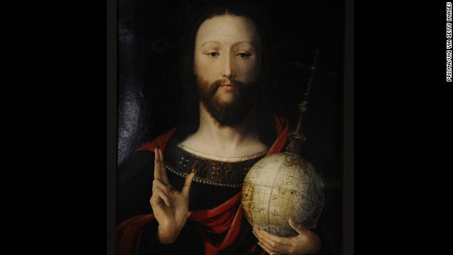 Salvator Mundi. Christ with the Globe. 1537-1545. Lower Rhin. German Historical Museum. Berlin. Germany. (Photo by: Prisma/UIG via Getty Images)