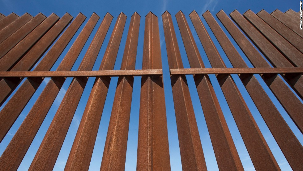 Part Of The Border Fence In South Texas Is Made From 6 By 6