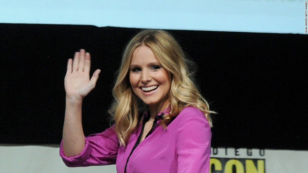 """Veronica Mars"" actress Kristen Bell attends the panel for the movie at Comic-Con on July 19."