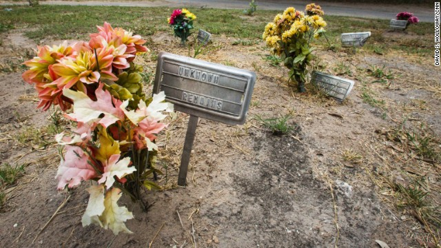 The graves of dozens of migrants who died trying to illegally cross the border are in Falfurrias, Texas.