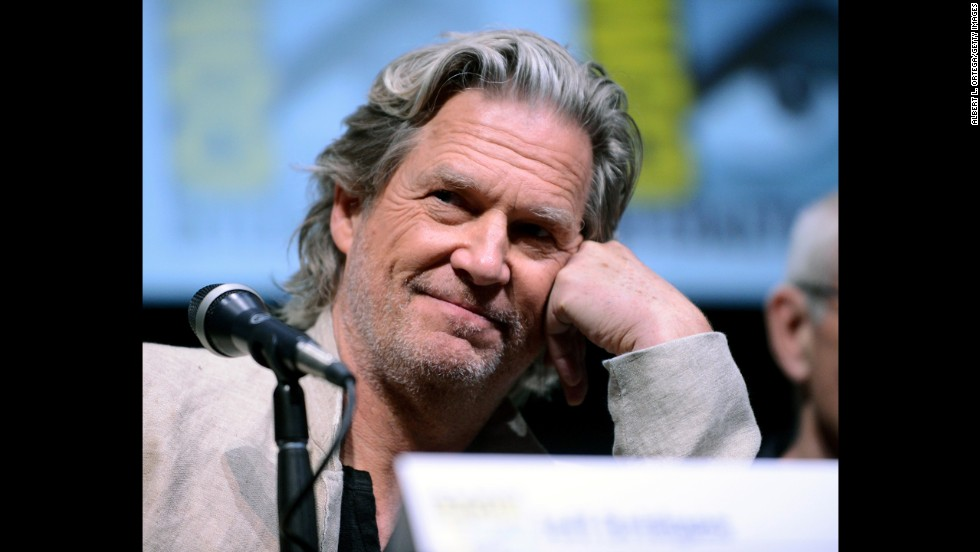 "Actor Jeff Bridges speaks onstage at the Warner Bros. and Legendary Pictures preview of ""Seventh Son"" on July 20."