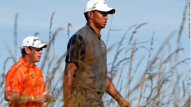Major-hungry Tiger Woods and Lee Westwood are vying for the British Open crown