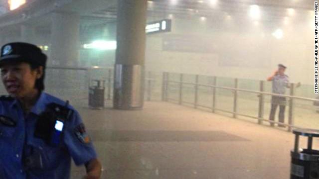 Explosives set off in Beijing airport